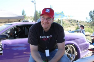 Dave sitting in front of the drift union soarer