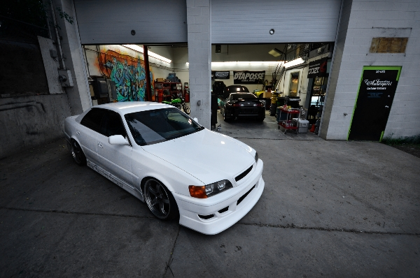 JZX in front of shop